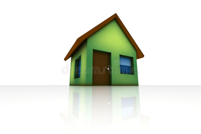 Pouca casa verde ilustração do vetor