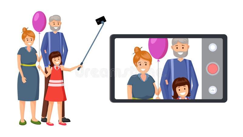 Pouca criança, ilustração do vetor das avós ilustração do vetor
