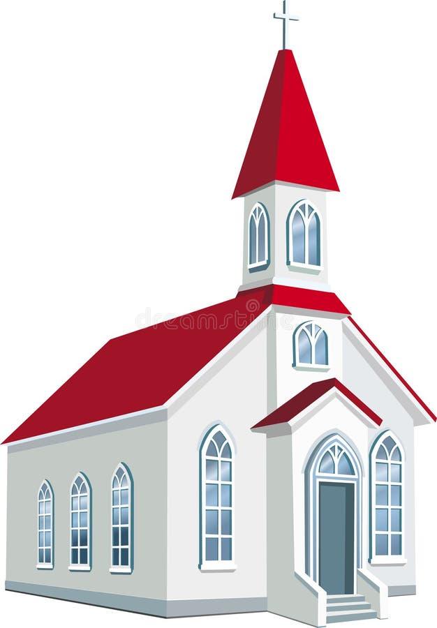 Pouca igreja cristã do condado ilustração royalty free
