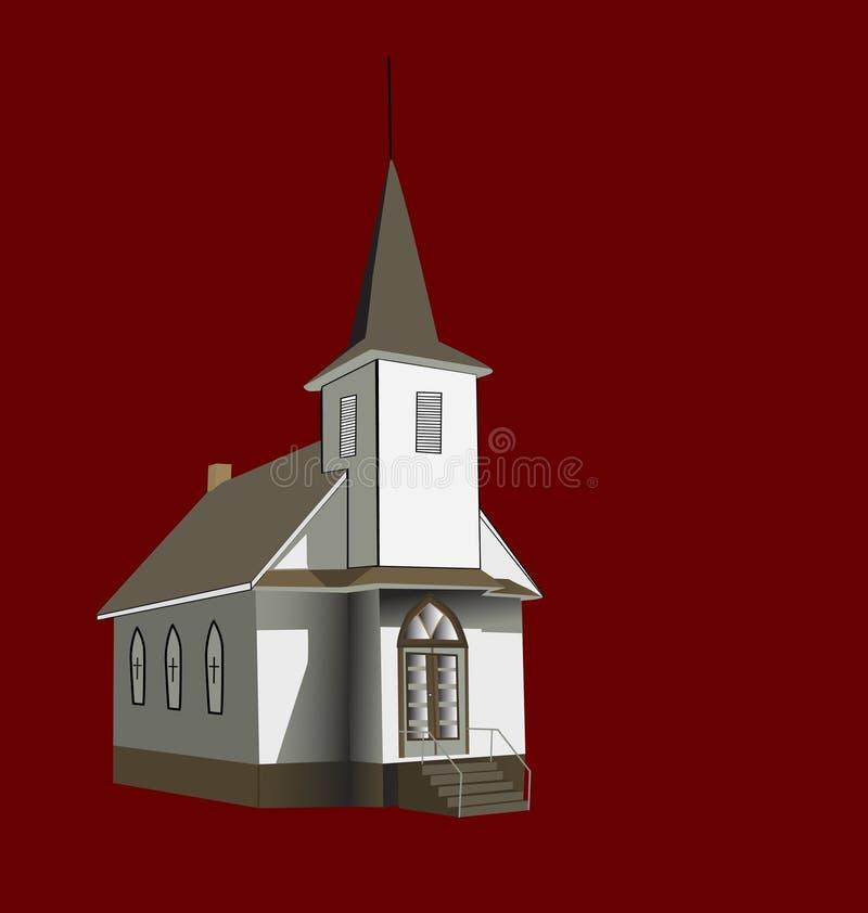 Pouca igreja do condado. ilustração stock