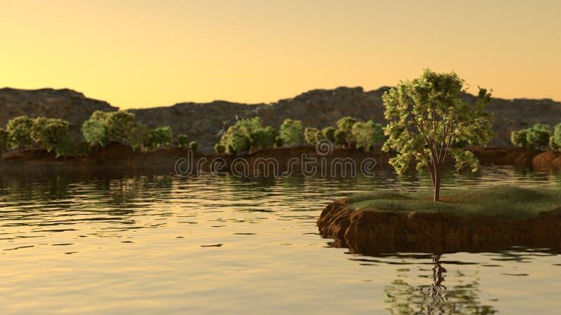 Pouca ilha fotografia de stock