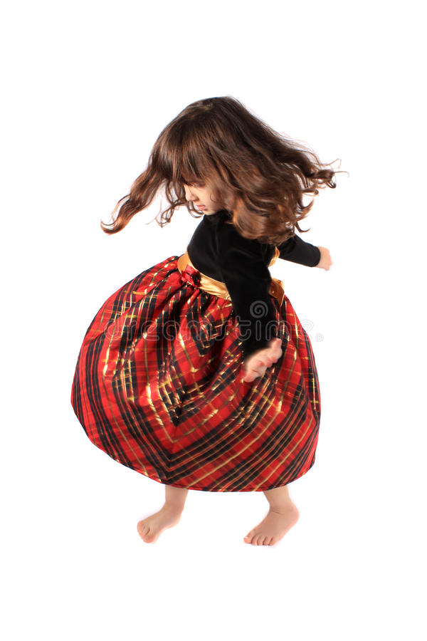 Pouca menina de dança de giro fotografia de stock royalty free