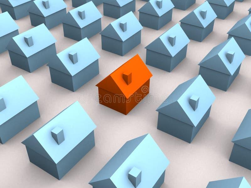 Poucas casas 3d ilustração stock