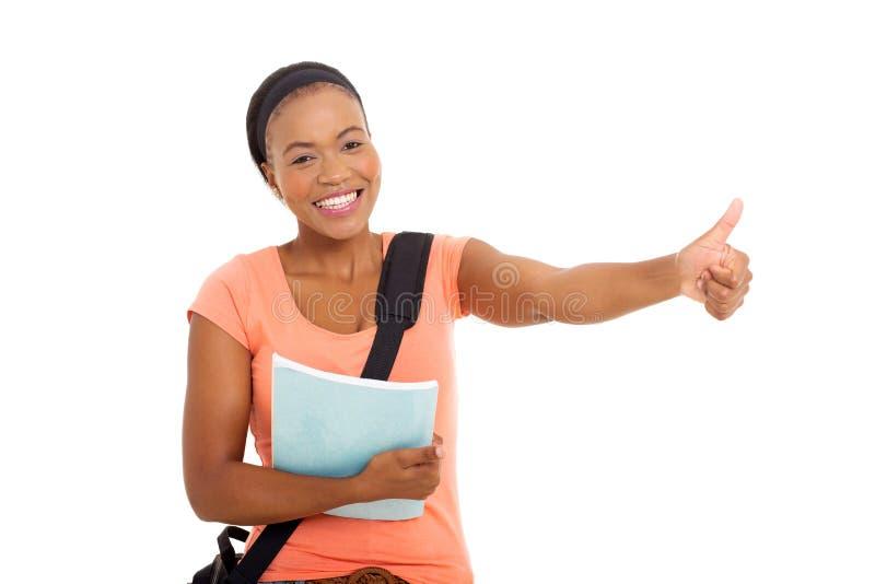 Pouce d'étudiant vers le haut photos stock