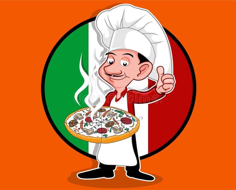 Pouce de chef de pizza  illustration libre de droits