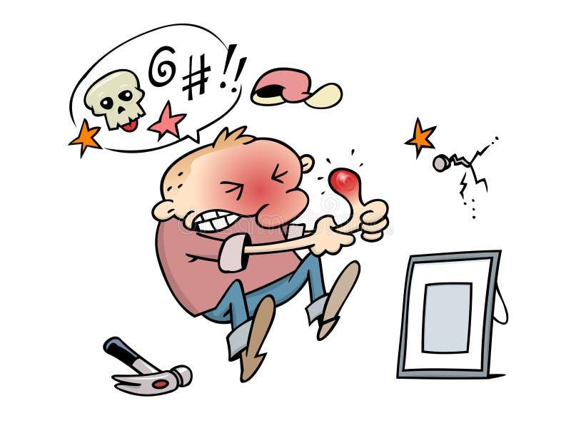 Pouce endolori illustration de vecteur