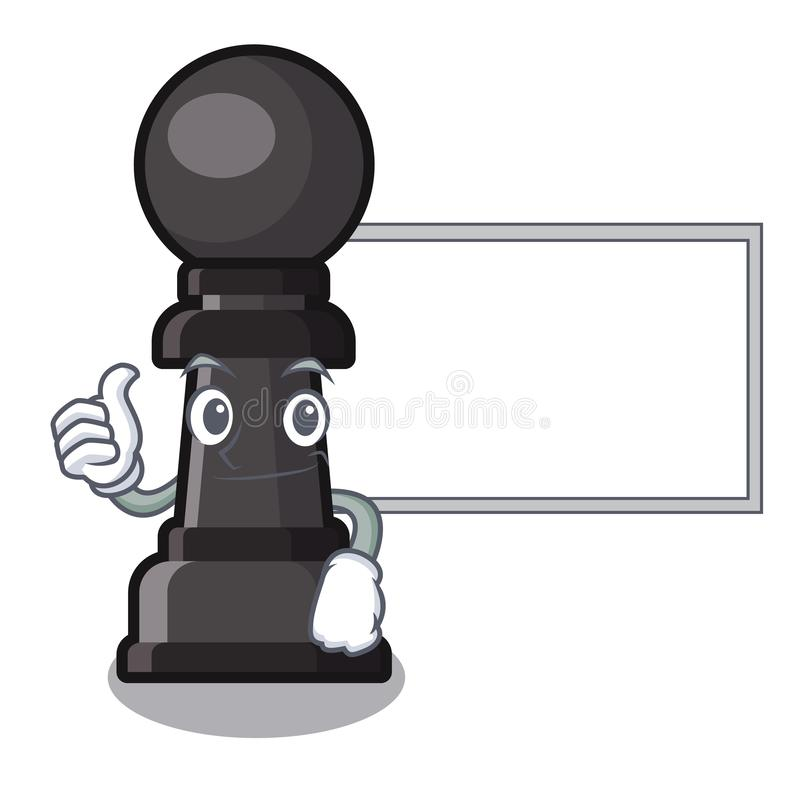 Pouces avec le gage d'échecs de conseil d'isolement avec la bande dessinée illustration stock