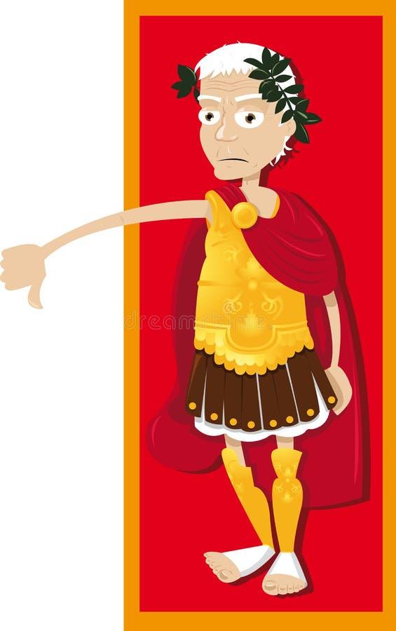 Pouces de Jules César vers le bas illustration de vecteur