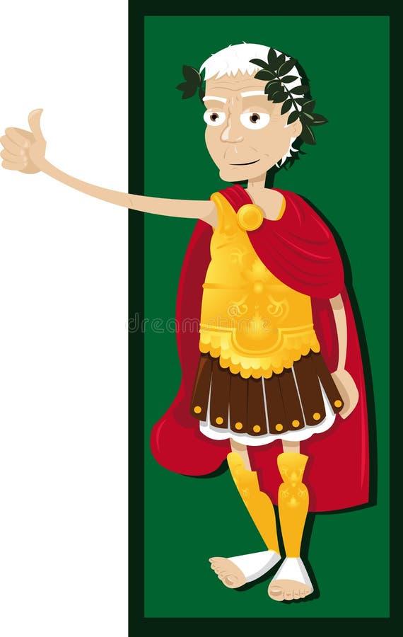Pouces de Jules César vers le haut illustration de vecteur
