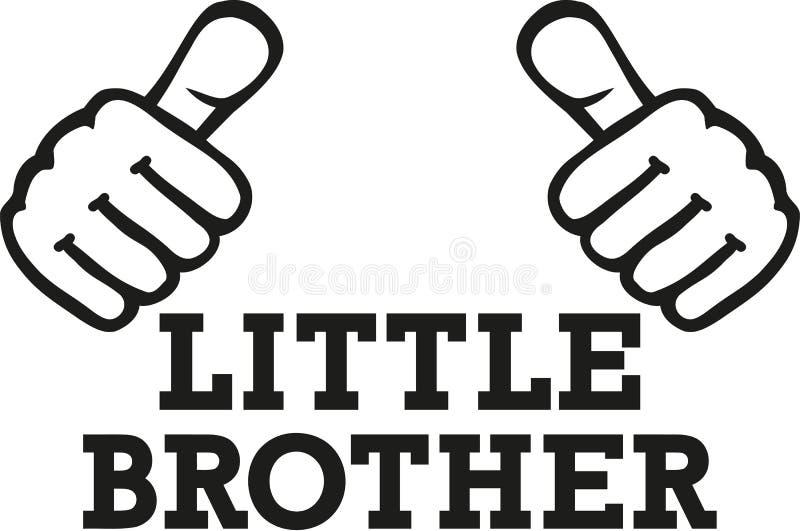 Pouces de petit frère illustration libre de droits