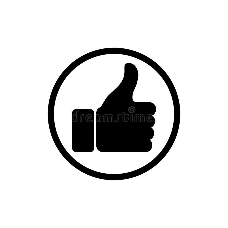 Pouces vers le haut d'icône pour des applis et des sites Web illustration stock
