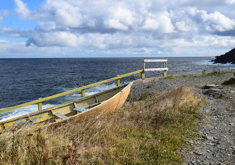 Pouch Cove coastline and dry dock royalty free stock photography