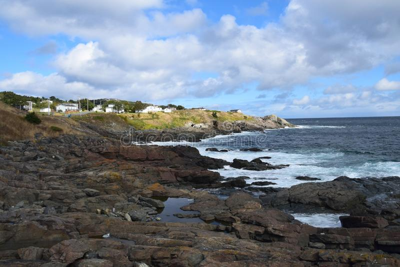 Pouch Cove coastline, NL Canada royalty free stock photos