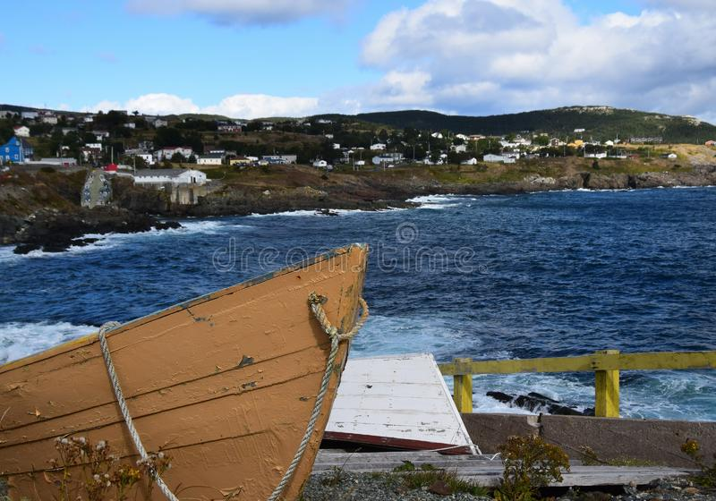 Pouch Cove village and dry dock stock photos