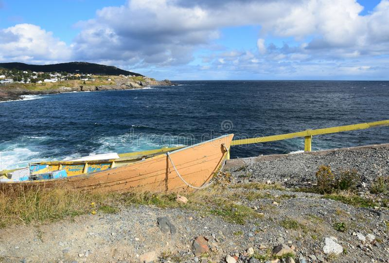 Pouch Cove village and dry dock stock image