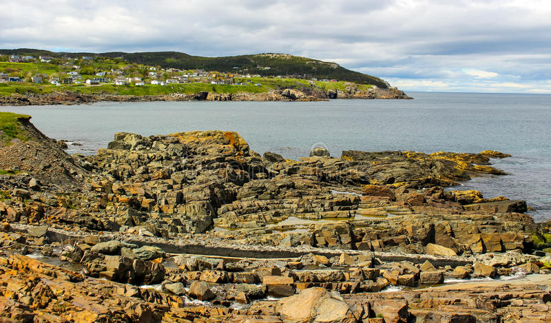 Pouch Cove village stock photography
