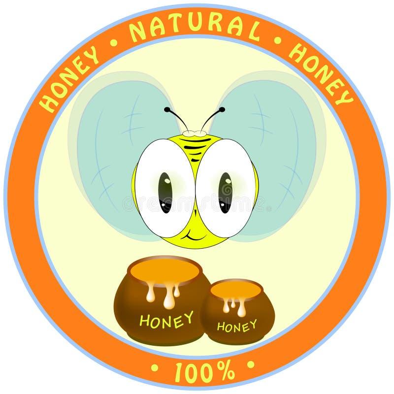 Pouco abelha com mel Ilustra??o do vetor ilustração royalty free