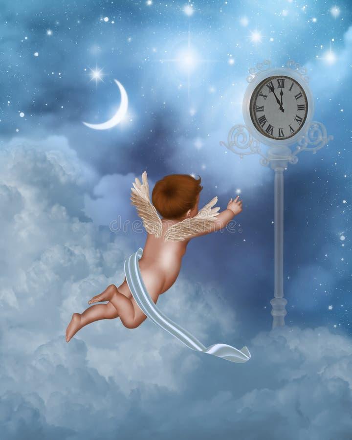 Pouco anjo 6 ilustração stock