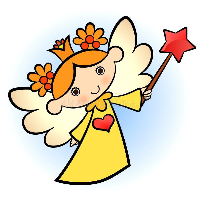 Pouco anjo bonito ilustração royalty free