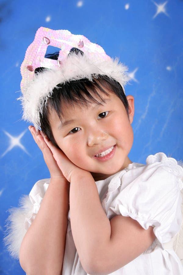 Pouco anjo chinês imagem de stock