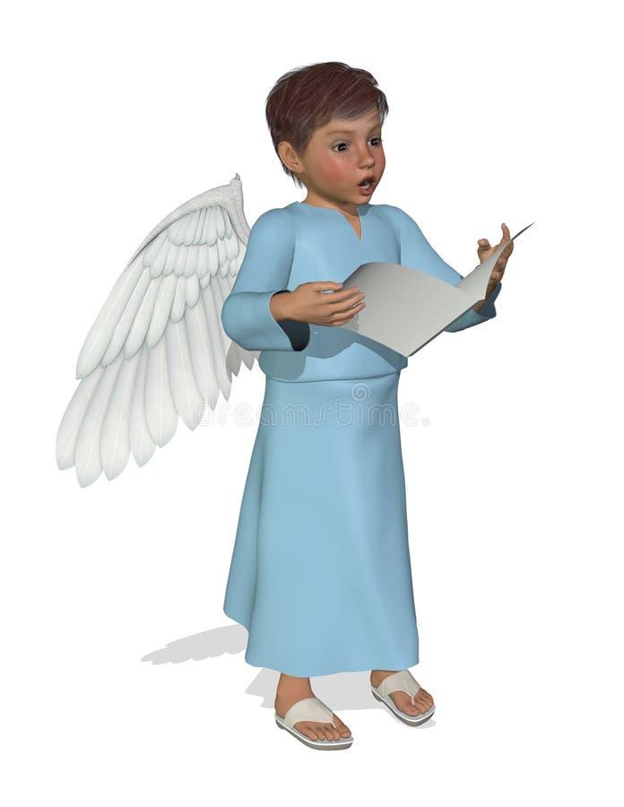 Pouco anjo que canta ilustração royalty free