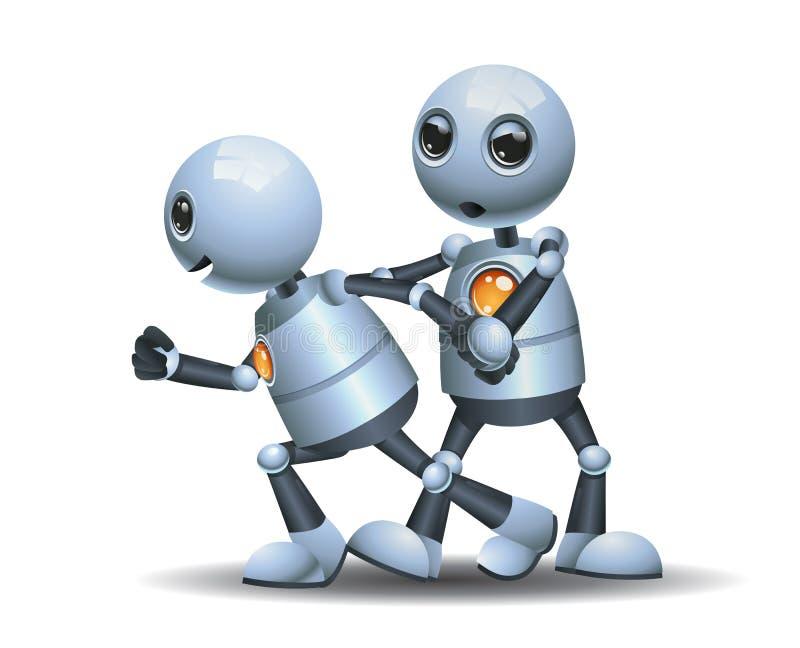 Pouco arrasto do robô o outro robô ilustração stock