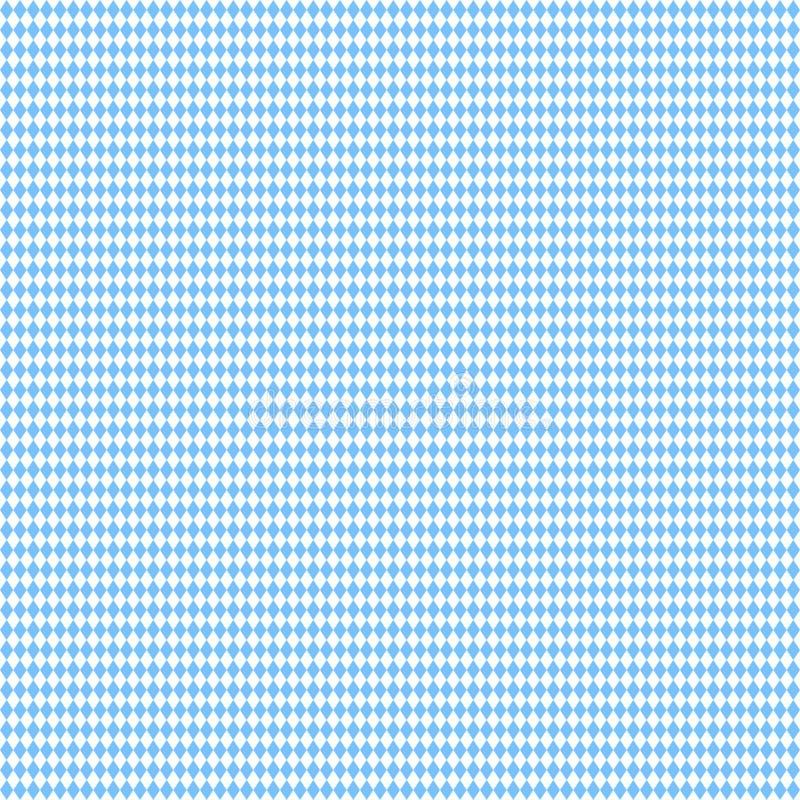 Pouco branco reto sem emenda de Octoberfest Diamond Pattern Light Blue And ilustração stock