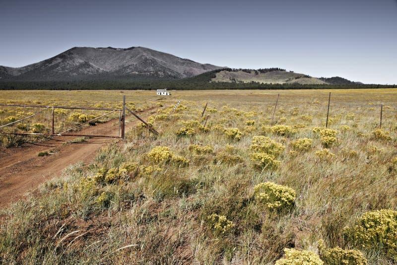 Pouco casa na pradaria, o Arizona EUA foto de stock royalty free