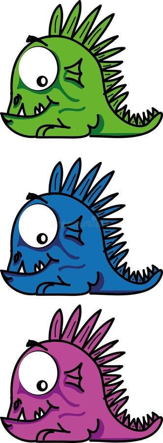 Pouco dragão ilustração do vetor
