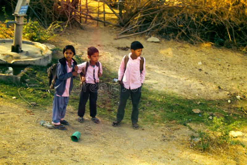 Pouco estudantes indianos imagem de stock royalty free