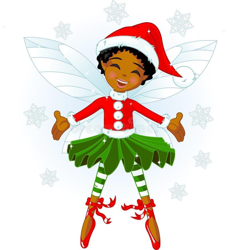 Pouco fairy do Natal ilustração stock