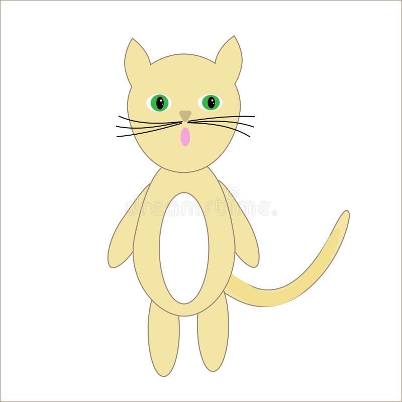 Pouco gato sob a forma de um brinquedo ilustração stock