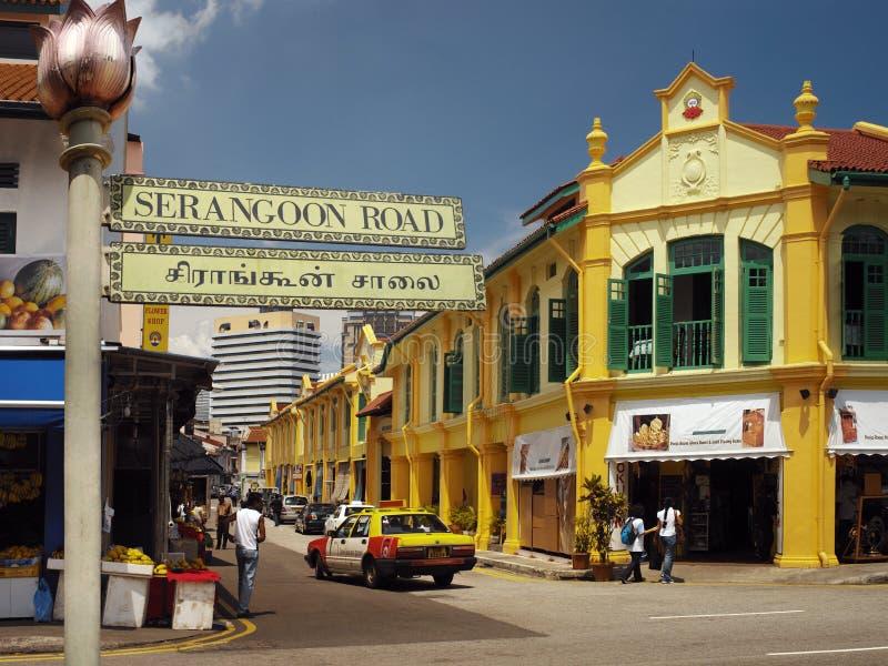 Pouco India distrito de Singapore - foto de stock royalty free