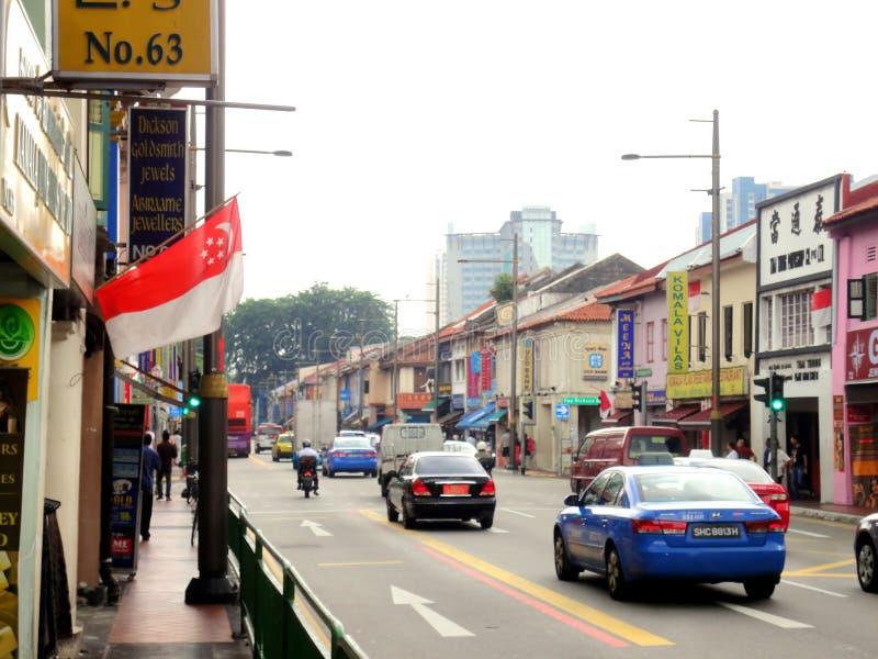 Pouco India, Singapore foto de stock