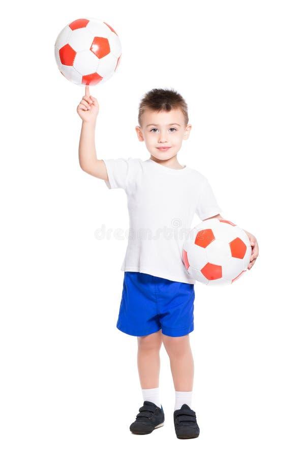 Pouco jogador de futebol foto de stock royalty free