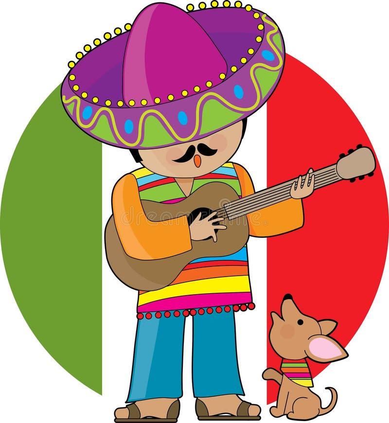 Pouco México ilustração stock