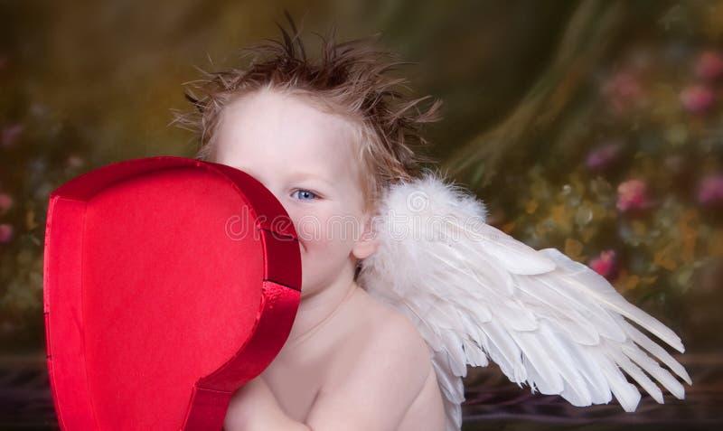 Pouco Menino Do Anjo Imagens de Stock