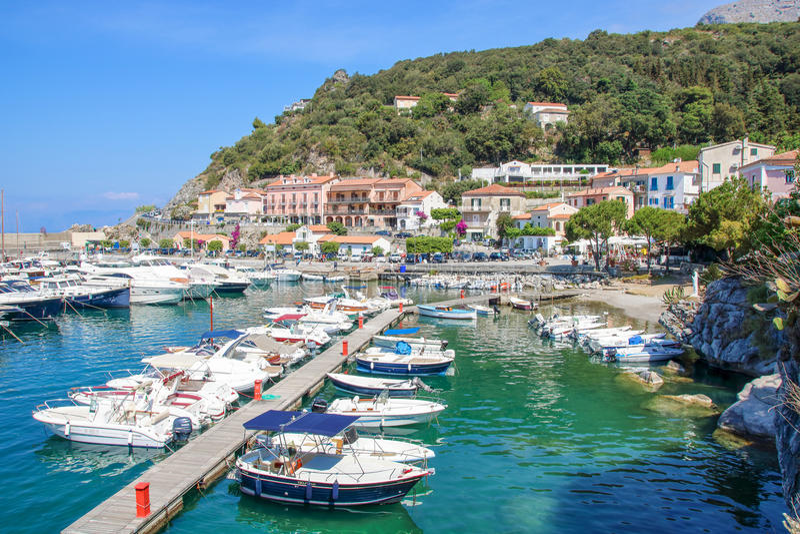 Pouco porto de Maratea imagem de stock royalty free