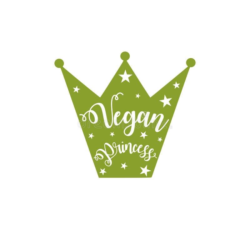 Pouco princesa do vegetariano ilustração stock