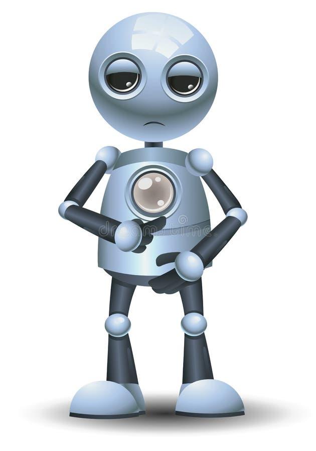 Pouco robô pede para reencher a energia ilustração stock