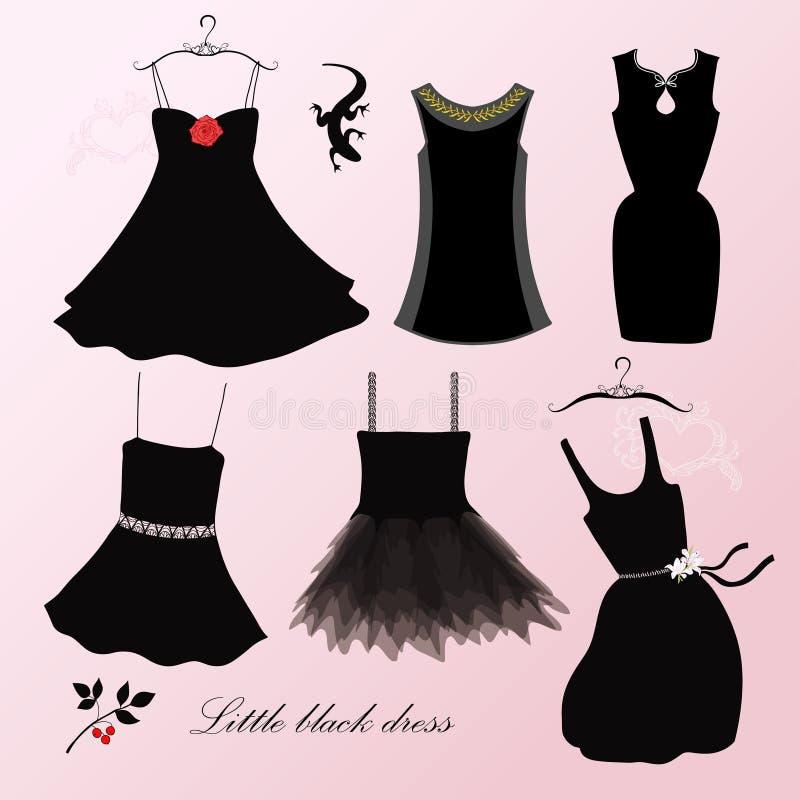 Pouco vestido preto ilustração royalty free