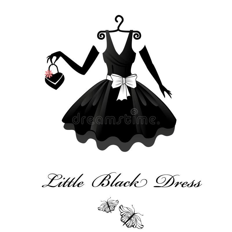 Pouco vestido preto ilustração stock