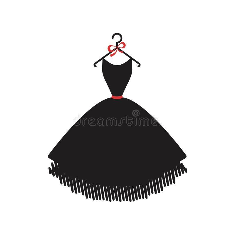 Pouco vestido preto ilustração do vetor