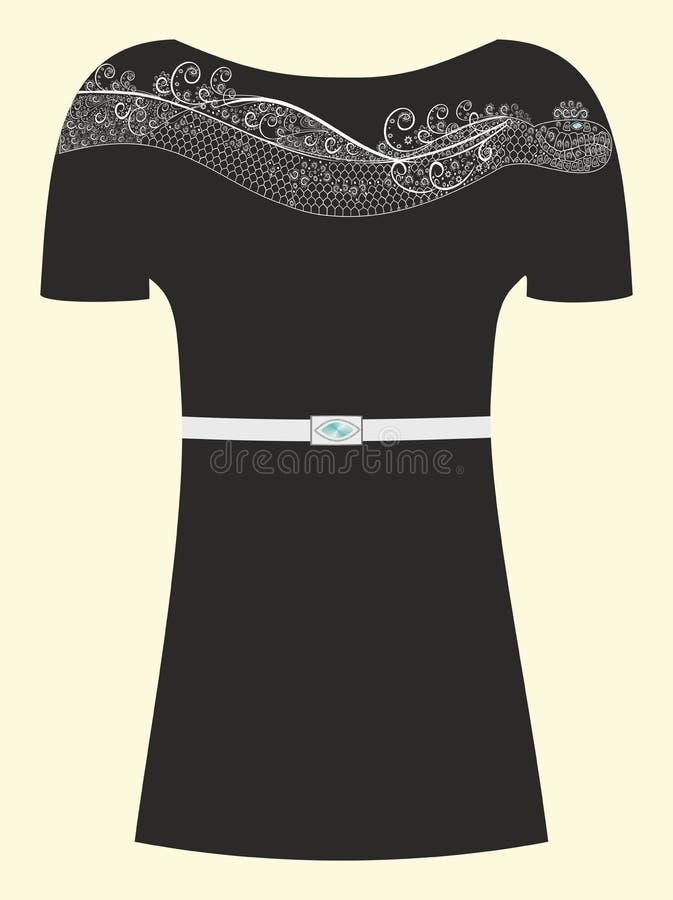 Download Pouco Vestido Preto Com Uma Serpente Para Uma Menina Ilustração do Vetor - Ilustração de menina, bonito: 29826029
