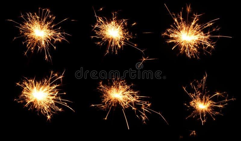 Poucos fogos-de-artifício explodem imagem de stock royalty free