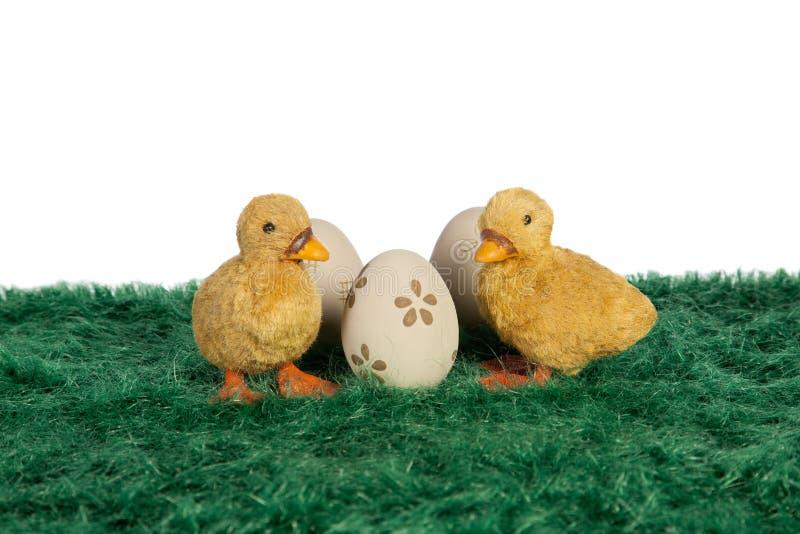 Poucos patinhos amarelos de Easter imagens de stock