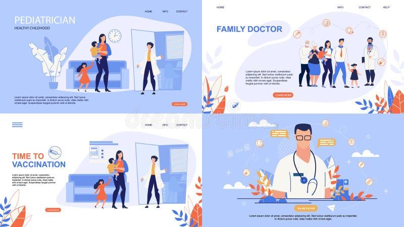 Pouczająca Plakatowa Wpisowa Online lekarka royalty ilustracja