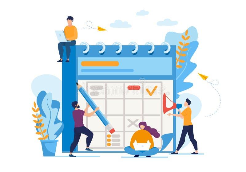 Pouczającej ulotki Biznesowego planowania Dzienny mieszkanie ilustracja wektor