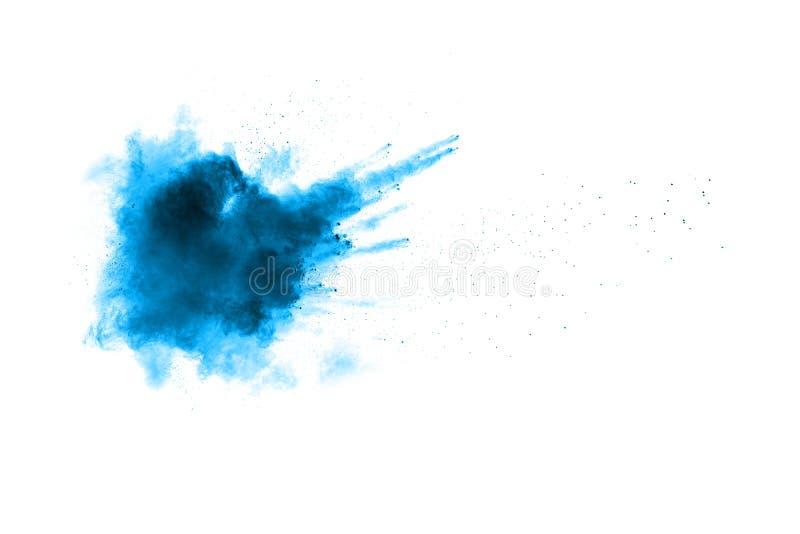 Poudre bleue abstraite splatted photos libres de droits