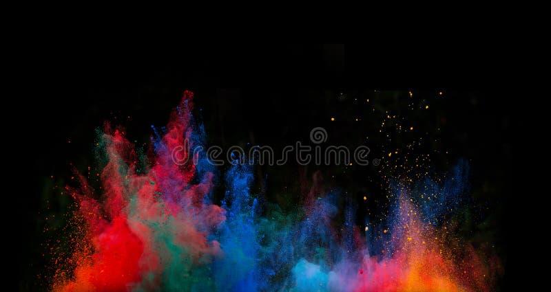 Poudre colorée lancée photo libre de droits